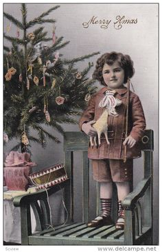 CHRISTMAS : Child w/ horse toy & whip , 00-10s - Delcampe.com