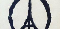 The Paris Peace sign has become the emblem of solidarity amidst the Paris attacks. Jean Jullien is the artist behind the art. Banksy, Attentat Paris, Illustration Parisienne, Paris Terror, Eagles Of Death Metal, Pray For Paris, Paris Attack, Easy Paintings, New Art