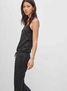"""when in doubt, wear this"" EMERALD JERSEY JUMPSUIT | Aritzia"