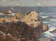 C.w. Mundy     Point Lobos 9x12 oil on linen Plein Air