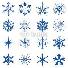 Vektor: Schneeflocken und Eiskristalle