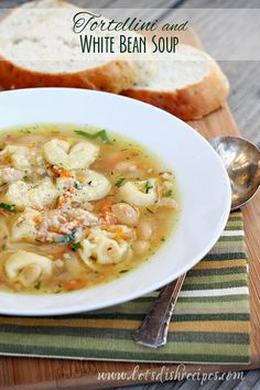 Tortellini and White Bean Soup with Pancetta on MyRecipeMagic.com