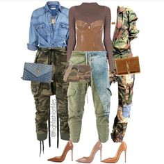 Outfit on left. Camo Fashion, Look Fashion, Autumn Fashion, Fashion Outfits, Womens Fashion, Fashion Trends, Stylish Outfits, Fall Outfits, Looks Jeans