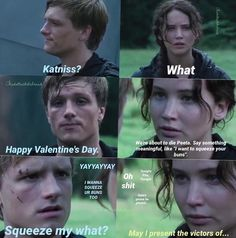 """93 Likes, 13 Comments - Little Duck (@thedollwiththebread) on Instagram: """"Happy Valentine's Day! This sucks, but same Katniss, same. Q-spell """"I love you Peeta"""" with your…"""""""