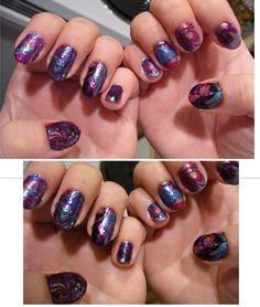 Galactic Marble Nails! #beautiful #nails #galactic