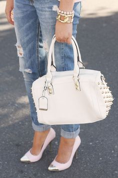 Torn ( Denim Jeans & Studded Leather Totes )