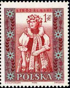 Polonia-Trajes Regionales-Traje de mujer de Slaski