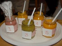 Baby shower game - guess the puree!
