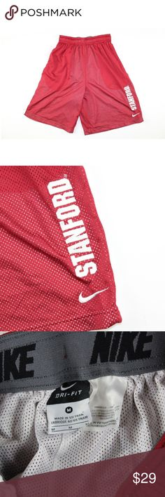 "d08133c967abe Nike Mens M Stanford Basketball Gym Shorts Red Nike Dri-Fit Stanford  Cardinals Basketball Shorts Shorts Condition  Pre-owned ""Comes from a  smoke-free ..."