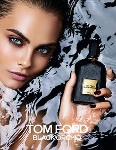 CARA DELEVINGNE FOR TOM FORD BLACK ORCHID. | A luxurious and sensual fragrance of rich, dark accords and an alluring potion of black orchids, and spice, TOM FORD's Black Orchid is both modern and timeless.  Bottles in fluted, black-glass, Black Orchid makes an unforgettable statement of iconic style and worldly glamour.