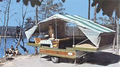 Nimrod Travel Trailers-this was quite the deal, and it was better than sleeping on the ground in a tent.