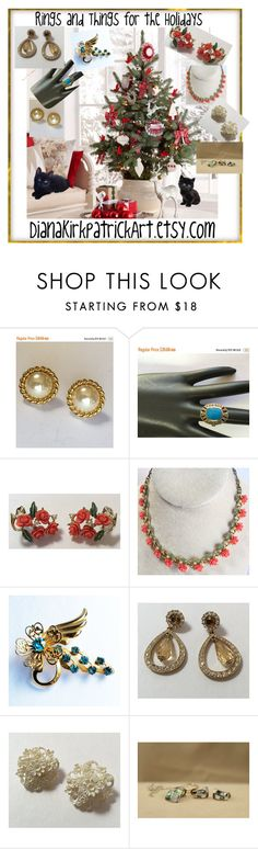 """""""Rings and Things for the Holidays!"""" by diana-32 ❤ liked on Polyvore featuring vintage"""