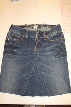 Have you every wanted a jean skirt but couldn't find one? Or, do you have a pair of jeans you love but the pant legs or hem is worn out? Tod...