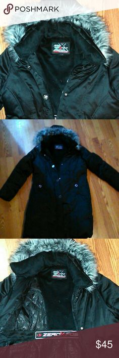 SUPER SOFT long winter coat Beautiful winter coat, with the brand zero x posur, size L. This coat is wonderful and will keep you warm and cozy, AND CUTE! in perfect condition and from a smoke free home. ZeroXposur Jackets & Coats Puffers
