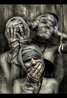 Hear See Speak no Evil by `J-u-d-a-s