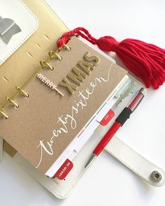 Christmas Planner 2016 Cover pages by paperpilekitten at @studio_calico
