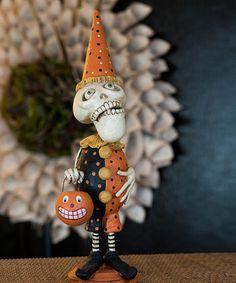 Spooktacular Home: Indoor Décor  -  Dead Day Skelly Clown Figurine - Zulily