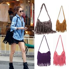 Leather fringe bag, black and brown have to be my fave