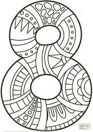 Crafts Printable Number 8 Zentangle coloring page from Zentangle Numbers category. Select from 21162 printable crafts of cartoons, nature, animals, Bible and… Colouring Pages, Coloring Pages For Kids, Coloring Sheets, Coloring Books, Numbers Preschool, Math Numbers, Alphabet And Numbers, Printable Crafts, Printables
