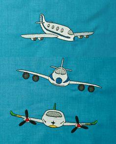 Flugzeug Stickdateien auf www.gabrielles-embroidery.com