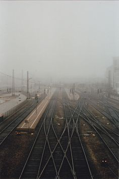 into the mist Camera Photography, Color Photography, Street Photography, Portra 400, Kodak Portra, Wanderlust, Shoot Film, Train Tracks, Mists