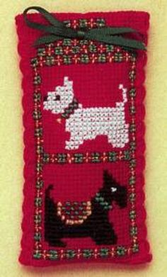 Textile Heritage Lavender Sachet Counted Cross Stitch Kit - Scotties & Westies