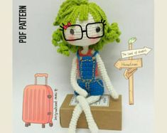 Hannah The Wonderful Girl Hannah Doll Crochet Pattern Doll