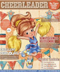 Cheerleader - Digital Stamp