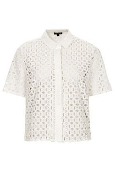 Textured Cut Out Shirt - Shirts - Tops - Clothing