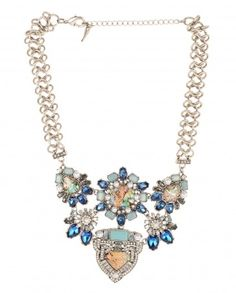Necklace with Multicolor Stones - $68