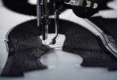 Alexander taylor + adidas develop futurecraft tailored fibre for embroidered assembly.  New 3D printer.
