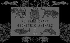 Geometric Animals Collection by Alpha Mike Foxtrot on @creativemarket