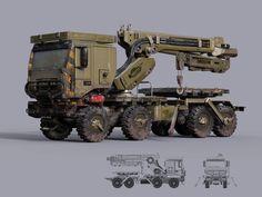 Recovery truck, Kirill Chepizhko on ArtStation at http://www.artstation.com/artwork/recovery-truck
