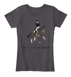 Based off of Charlotte Dujardin and her famed mount Valegro. Do it Like Dujardin is a unique design for all of you dressage riders!