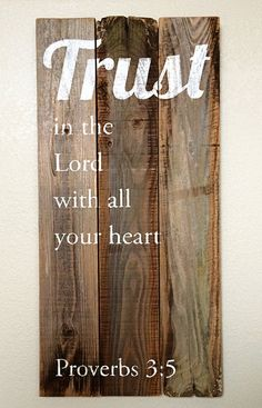 Reclaimed Wood Wall Art with Hand Painted by WouldYouBelieveWood, $85.00