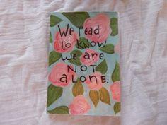 Hand Painted Medium Booklet by PeelsandPosies on Etsy, $10.00