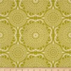 Joel Dewberry Bungalow Doily Grass from @fabricdotcom  Designed by Joel Dewberry for Free Spirit, this cotton print is perfect for quilting, apparel and home decor accents.  Colors include cream and green.