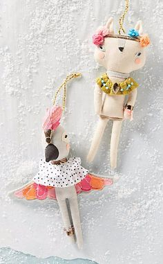 Fashionable Fauna Ornament #anthrofave love these! our ornaments are animals. perfect!