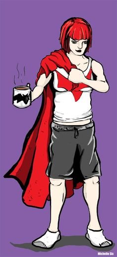 Batwoman in Comfy Pants by MichelleSix