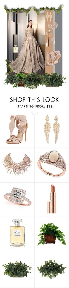 """""""Dreamy Dress - X"""" by mary-kay-de-jesus ❤ liked on Polyvore featuring Alexandre Birman, Stephen Webster, Effy Jewelry, Allurez, Estée Lauder, Chanel, Designs by Lauren and Nearly Natural"""