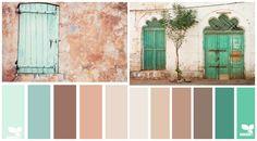 Türkis und Grün lassen sich mit Braun kombinieren