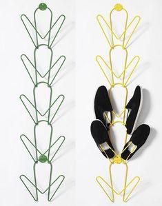 Diseño escandivao y zapatos en orden. Ehlén Johanssons  Pejl Shoe Storage