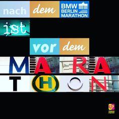 Alte Fußballer-Weisheiten passen auch für #marathon-Events.  BERLIN-MARATHON #berlin #urbanpoetry
