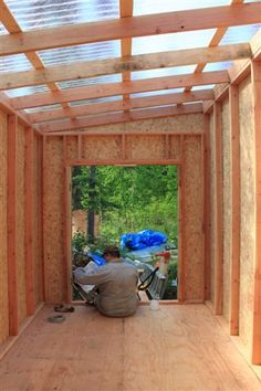 shed with clear roof