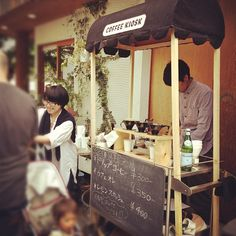street food idea for roof party little coffee stand. Coffee Shop, Coffee Carts, Little's Coffee, Food Truck, Pop Up Cafe, Food Kiosk, Coffee World, Coffee Stands, Café Bar