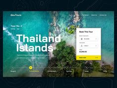 Qoutours ux typography ui islands thailand travel clean tours tour design web - My Recommendations Minimal Web Design, Ui Ux Design, Simple Web Design, Clean Design, Travel Website Design, Website Design Layout, Web Layout, Ui Web, Website Design Inspiration