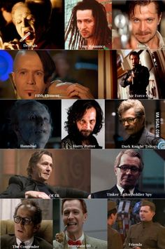 I have seen him in Batman, 5th element and Harry Potter... but I didn't know that they are the same actor...omg. Gary Oldman is truly a chameleon!
