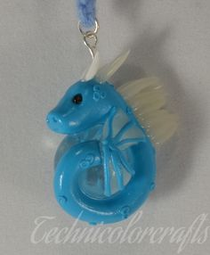 Blue Dragon with Glassball Necklace