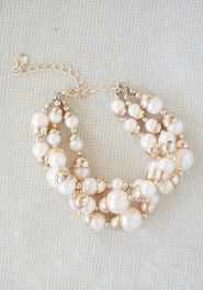 golden peach pearl bracelet