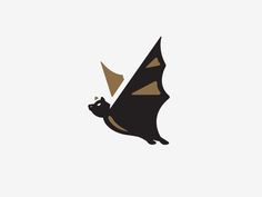 Bat designed by Kendrick Kidd. Connect with them on Dribbble; the global community for designers and creative professionals. Logos, Logo Branding, Branding Design, Logo Design, Murcielago Animal, Corporate Identity Design, Id Design, Personal Logo, Animal Logo